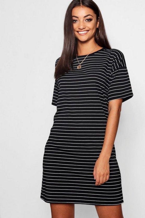 Tall Stripe Knitted T-Shirt Dress