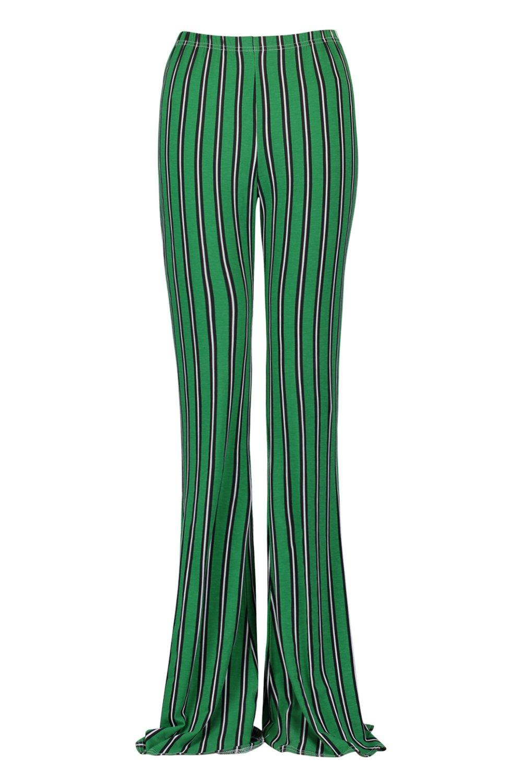 Tall rayas a Pantalones acampanados verdes verde TFqBqgnxw