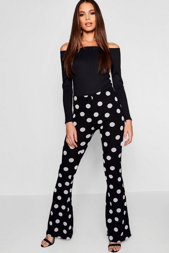 Tall Polka Dot Flare Trousers