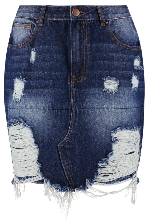 Tall azul azul Minifalda Tall rasgada oscuro rasgada Minifalda rasgada azul Tall oscuro Minifalda UqIE6xq