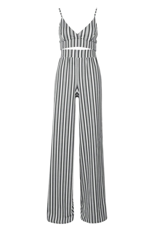 righe bralette Coordinato Tall e pantaloni con a qttXwT