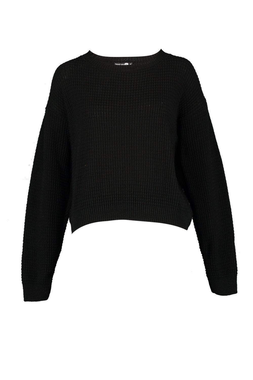 Jersey redondo negro con Tall corto cuello 7artw17q