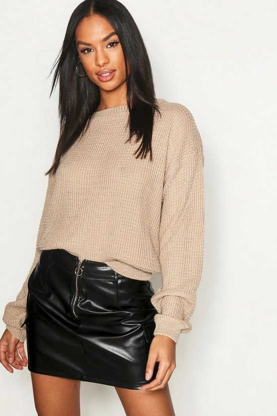 Tall Crew Neck Crop Jumper