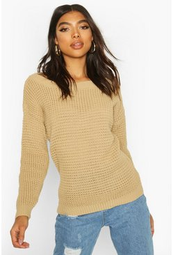 Stone Tall Slash Neck Jumper