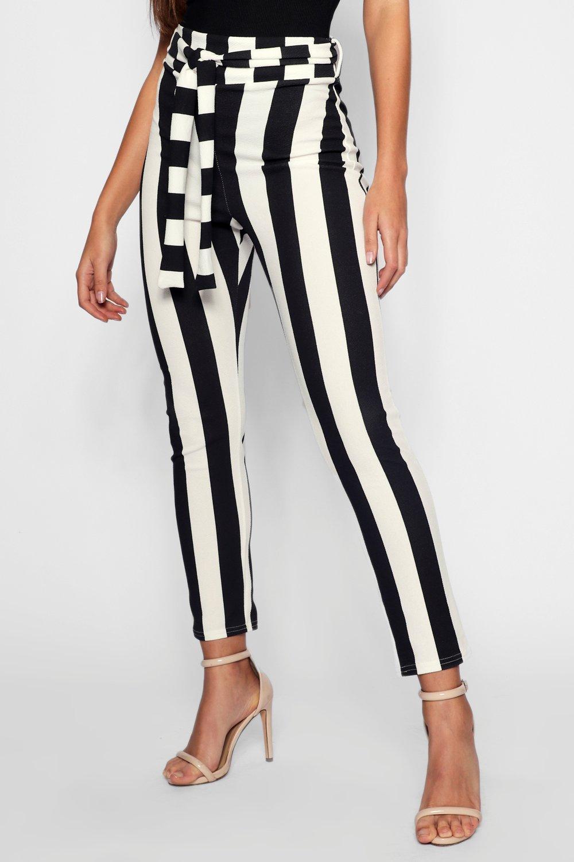 a Tall estampado negro rayas con ajustados Pantalones wxqUHH