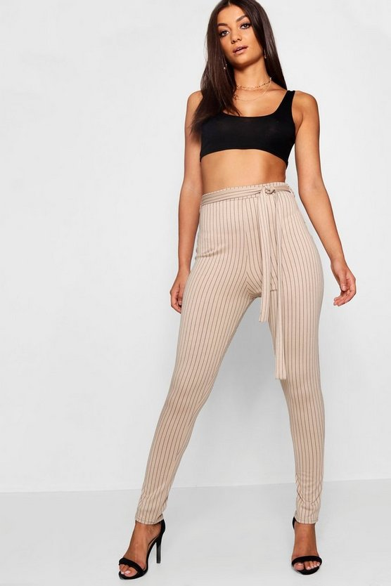 Tall Pinstripe Tie Waist Trousers