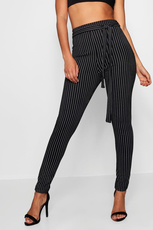 Tie Pinstripe Trousers Waist Tall sand 15wgqaqH