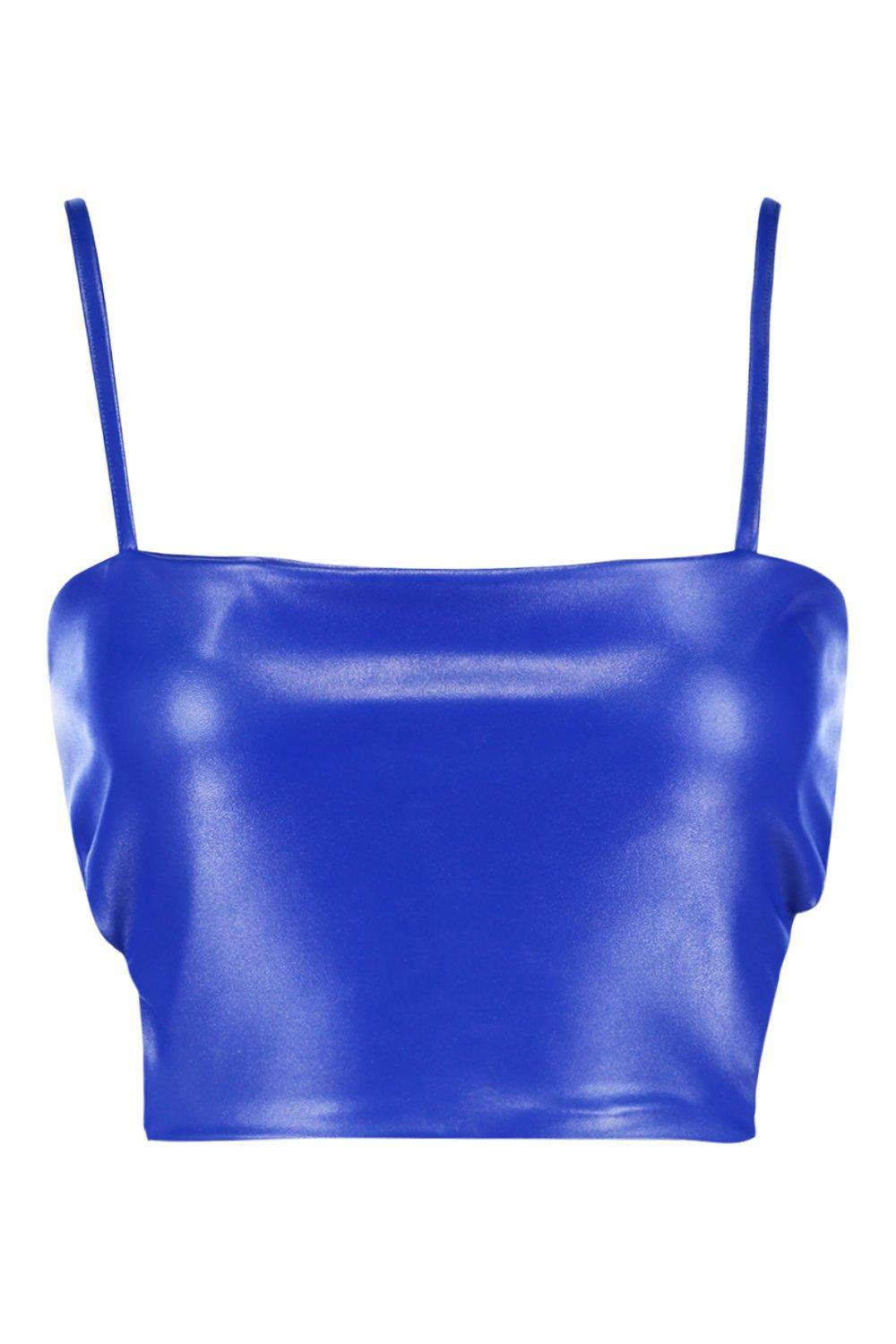 Tall Tall Bralet Strappy Tall Strappy PU Bralet cobalt cobalt Bralet Strappy cobalt PU PU BpXq86