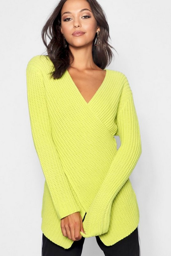 Tall Wrap Front Jumper