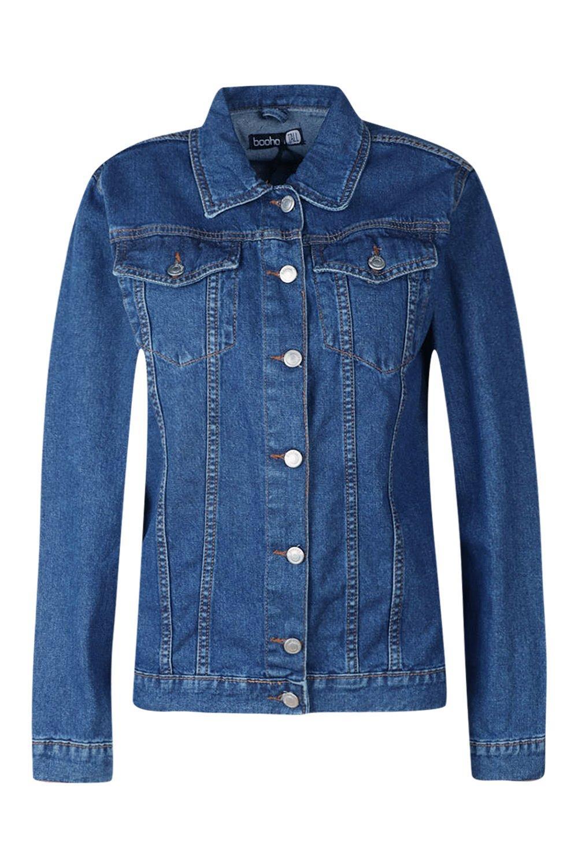 blue mid Boyfriend Oversized Jacket Tall Denim wUq84YR