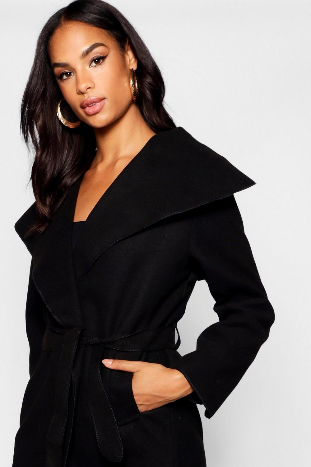 Boohoo-Womens-Tall-Short-Shawl-Collar-Coat