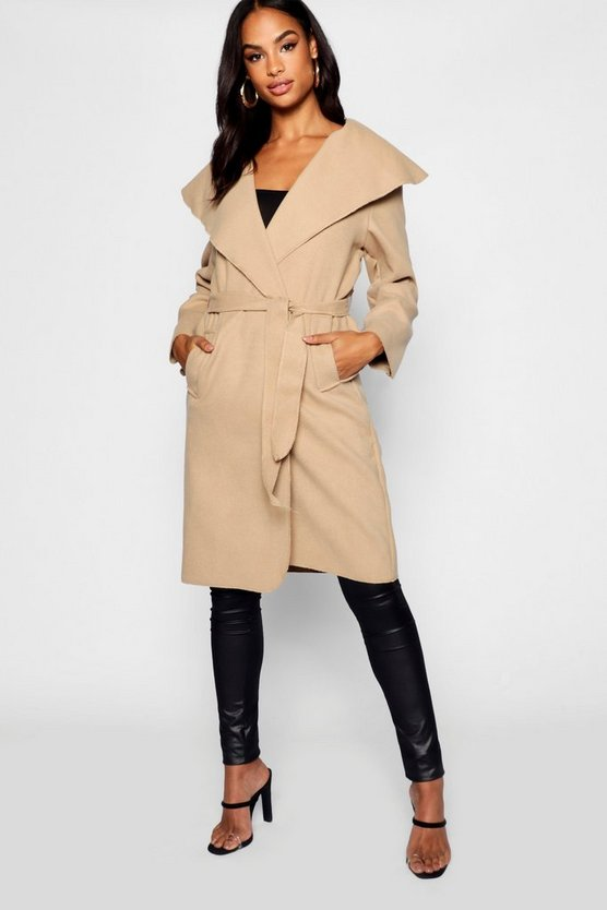 Tall Short Shawl Collar Coat