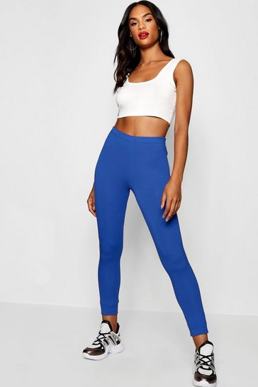 Womens Royal Tall Basic Jersey Leggings