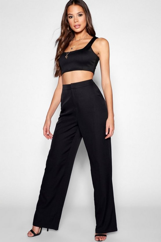 Tall Woven Wide Leg Trousers