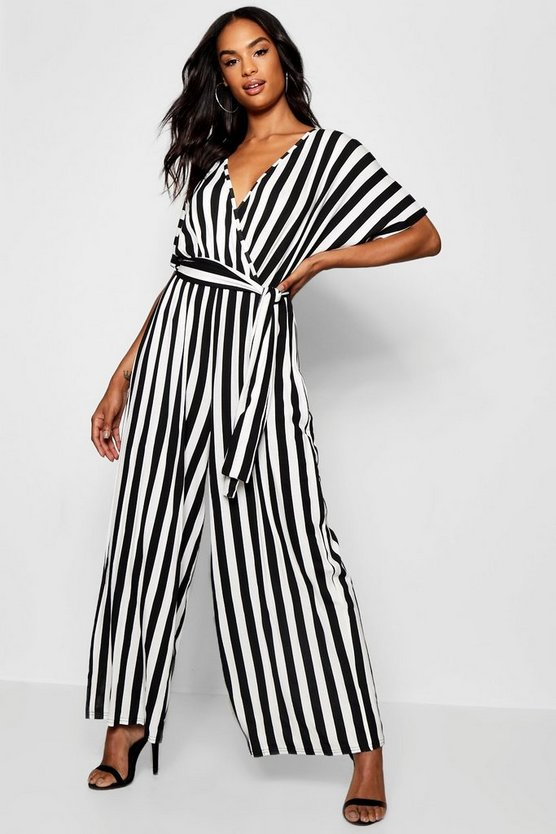 Tall Stripe Wrap Jumpsuit
