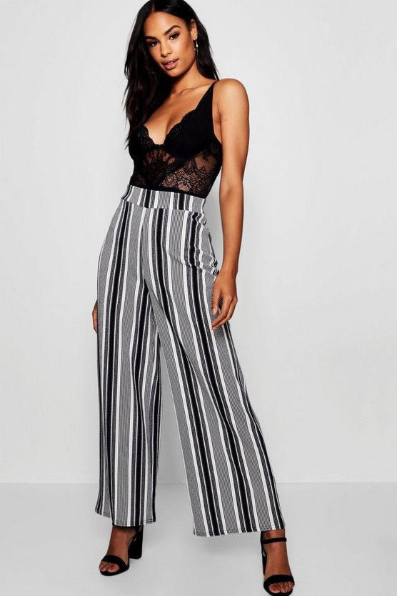 Tall Mono Stripe Wide Leg Culottes
