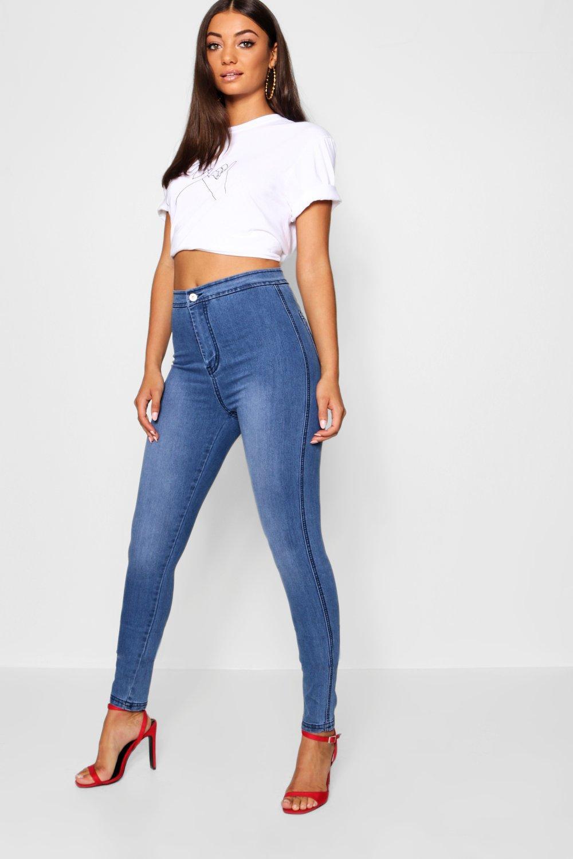 36 Jeans Tall medio skinny con azul nbsp;pulg de pierna TRxIvPwZRq