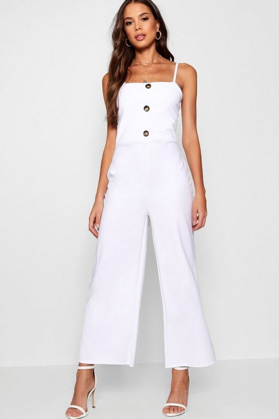 Tall Button Detail Jumpsuit