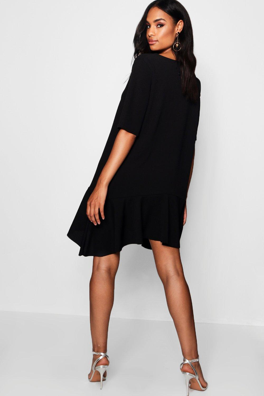 Boohoo-Womens-Tall-Frill-hem-Skater-Dress