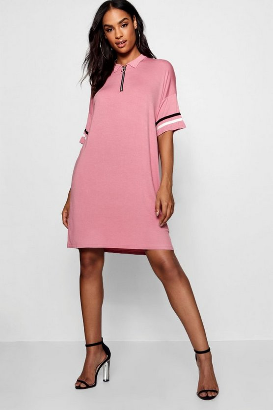 Tall Polo Zip Through Dress