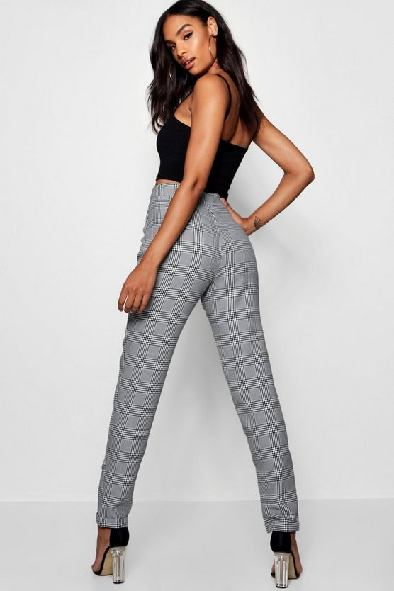 Tall Checked Woven Tailored Trousers