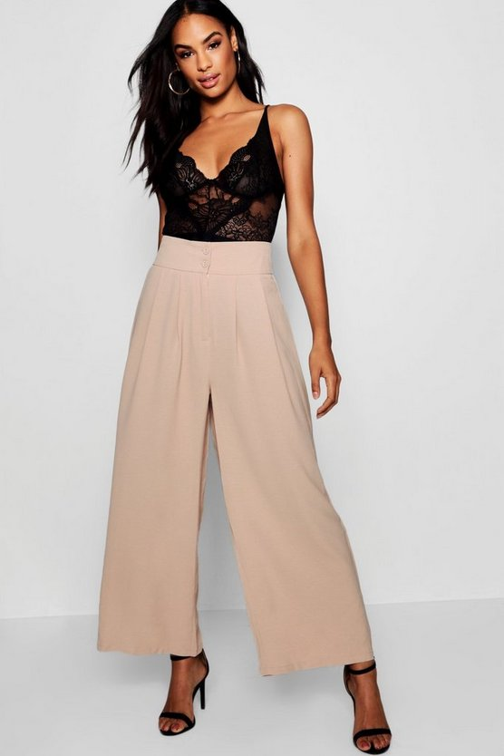 Tall Pleated Tailored Culottes