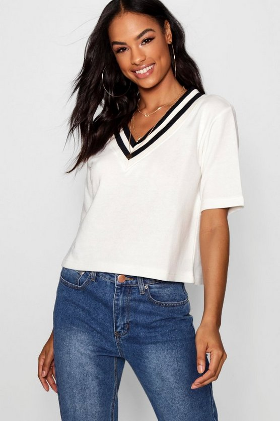 Tall Sports Rib V Neck Sweat