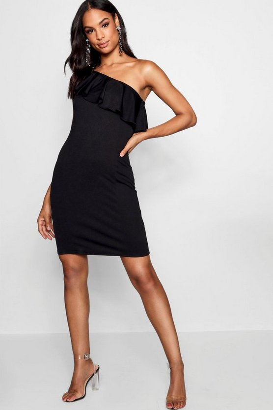 Tall Ruffle One Shoulder Dress