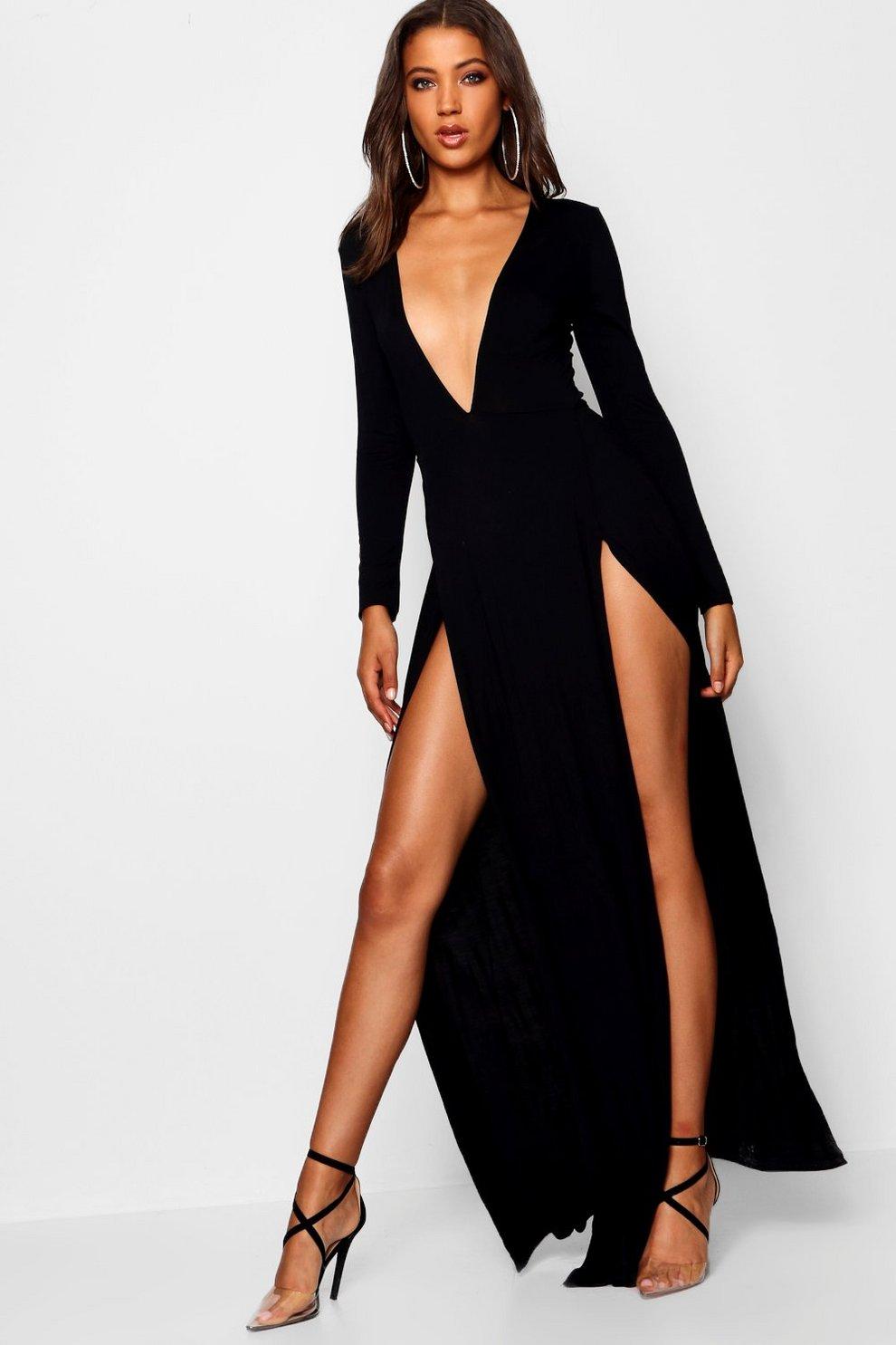 Tall Plunge Side Split Maxi Dress  c1cdee24c