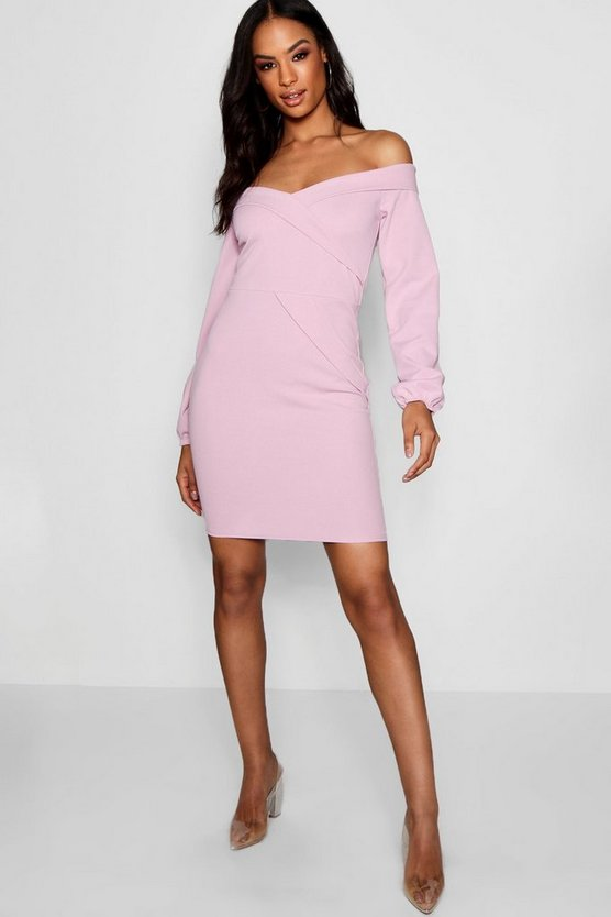 Tall Off The Shoulder Blazer Dress