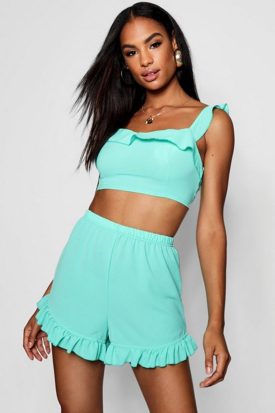 Tall Frill Co-ord Crop Top Set
