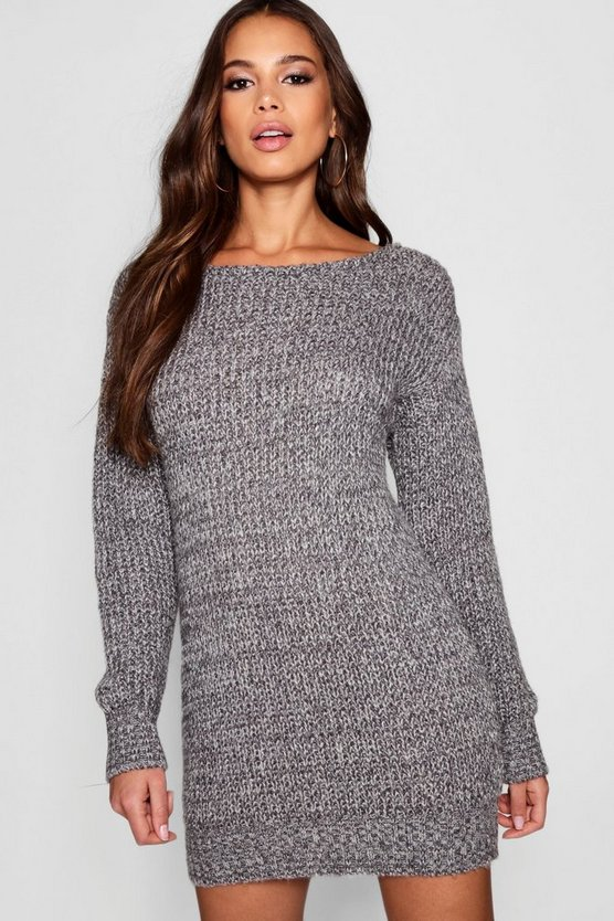 Tall Marl Knit Jumper Dress