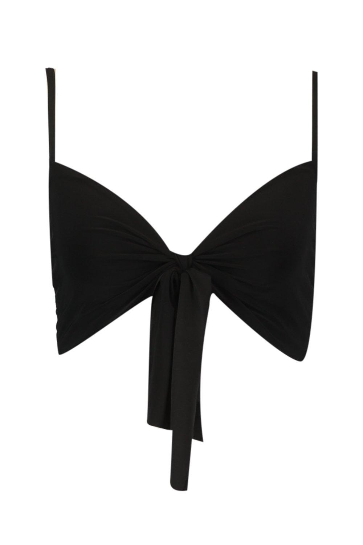 Tie Top black Crop Front Tall pqgtwdSp