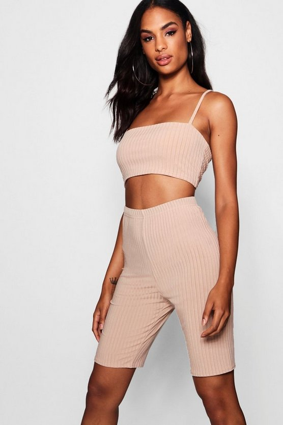 Tall Lilly Crop + Cycling Shorts Co-ord