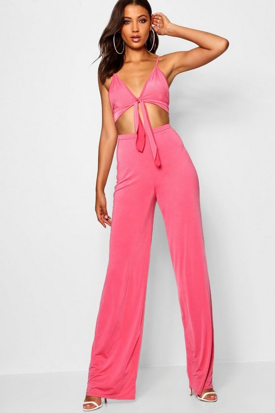 Tall Tie Front Crop + Trouser Co-ord