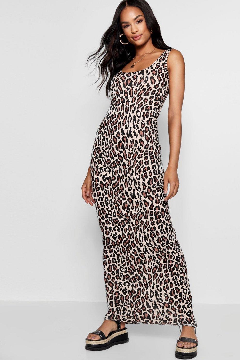 e0a8b1424d3 Tall Eva Leopard Print Maxi Dress | Boohoo