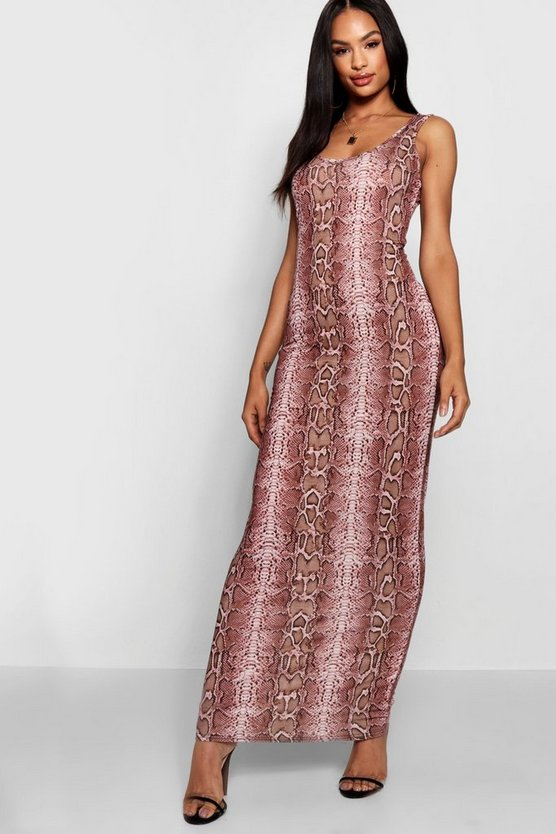 Tall Ellie Snake Print Maxi Dress
