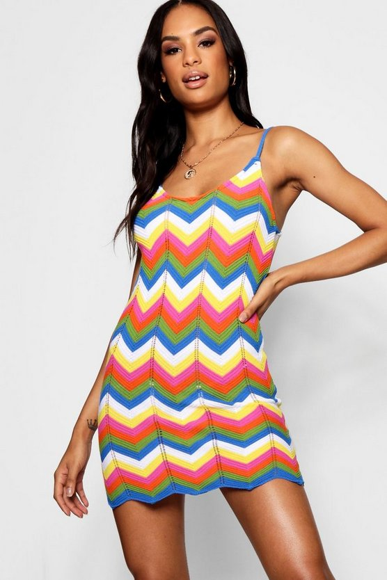 Tall Chevron Knit Mini Dress