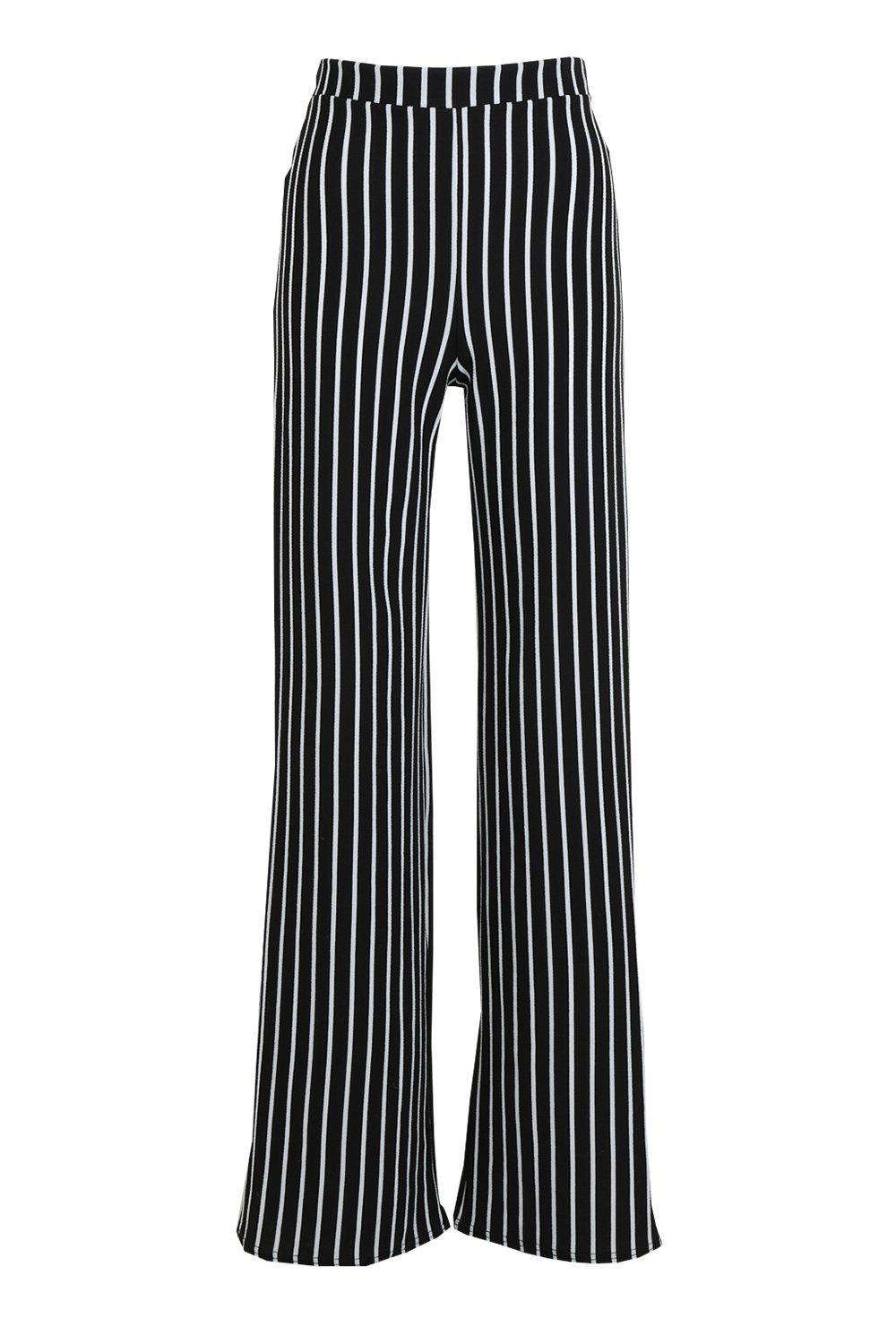Tall Stripe Leg Wide Trousers black n0wYg0qr