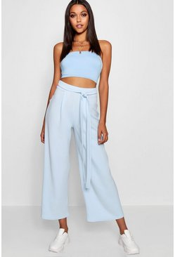 Womens Sky Tall Belted Culottes