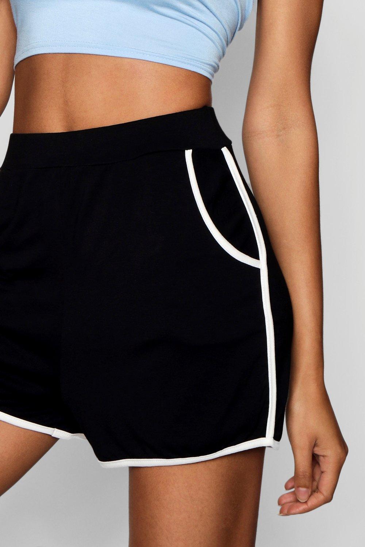 cortos Pantalones correr contraste en con Vicki de Tall costuras gris dqqwxOErZ