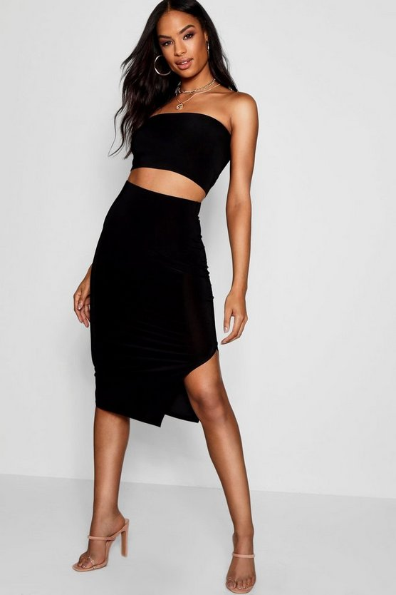 Tall Esme Bandeau + Thigh Split Skirt Co-Ord