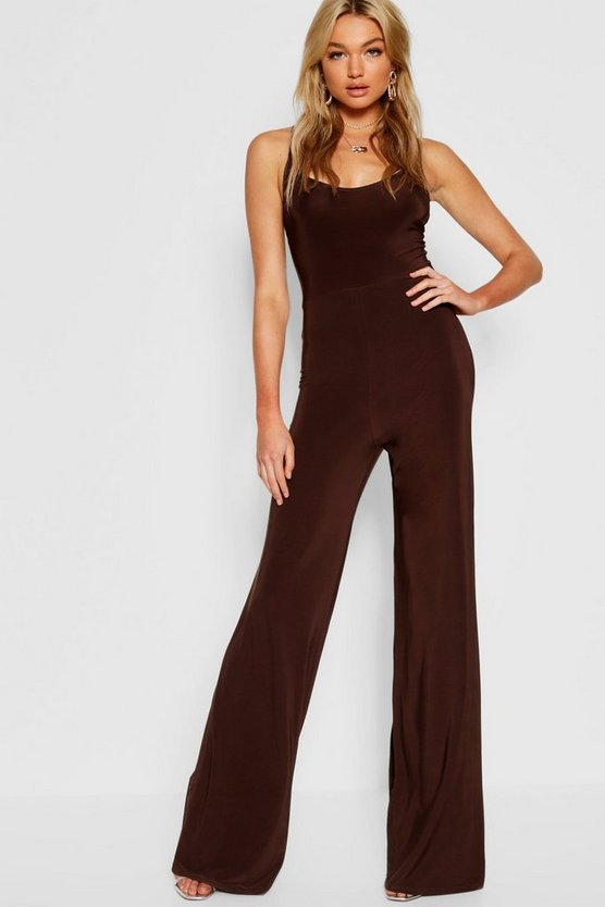 Tall Bella Plunge Wide Leg Jumpsuit
