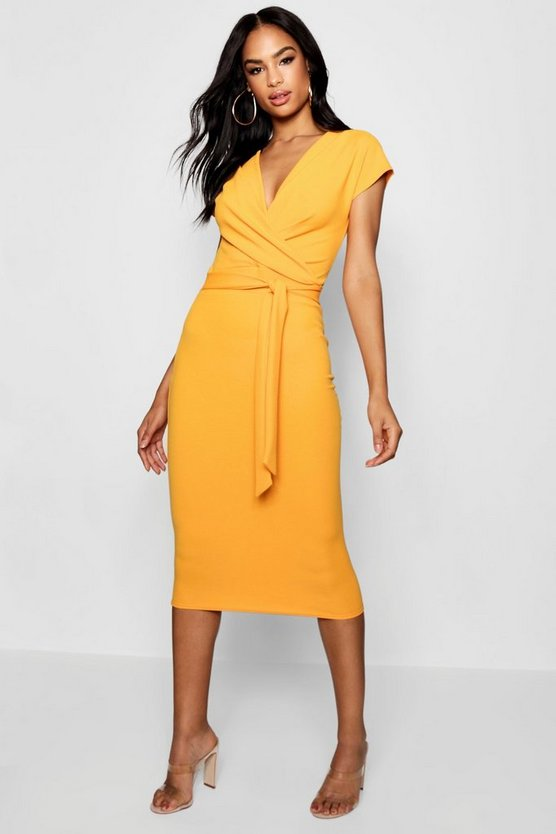 Tall Sleeveless Wrap Bodycon Dress