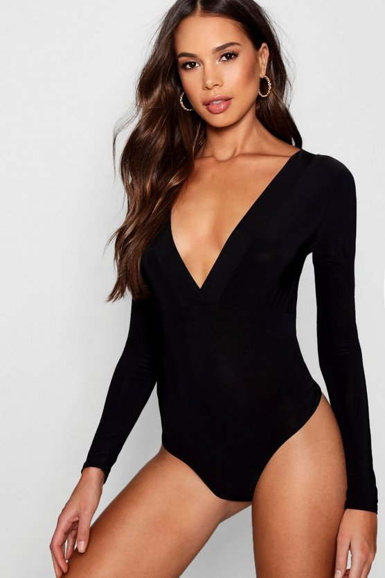 Tall Summer Plunge Slinky Bodysuit