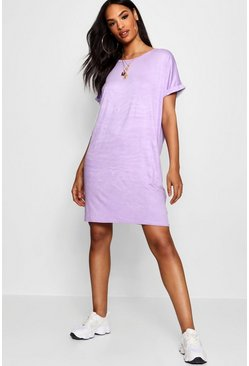 Womens Lilac Tall Oversized T-Shirt Dress