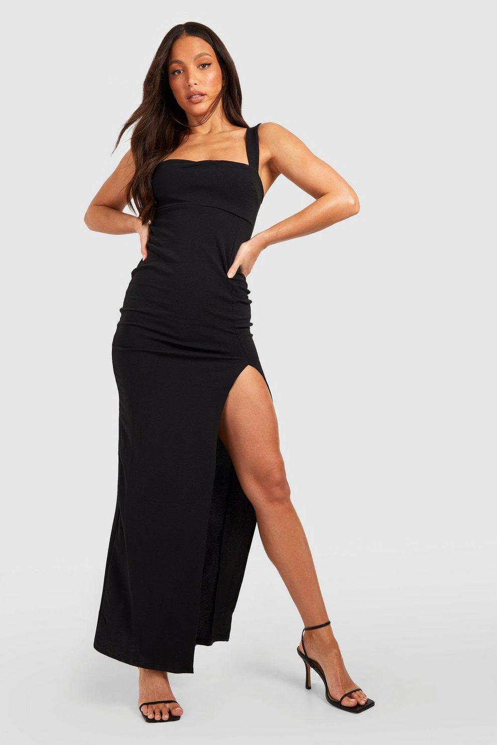 bd8f7433468 Tall Square Neck Side Split Maxi Dress
