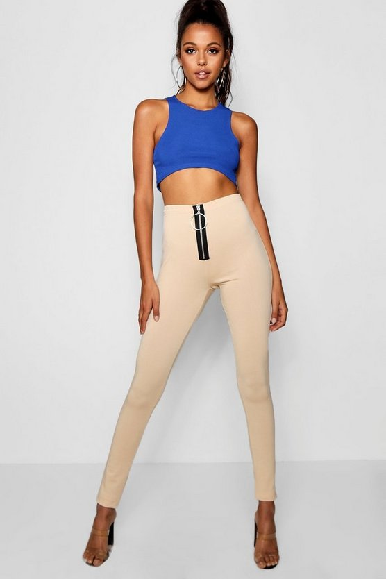 Tall Zip Up Slim Leg Trousers