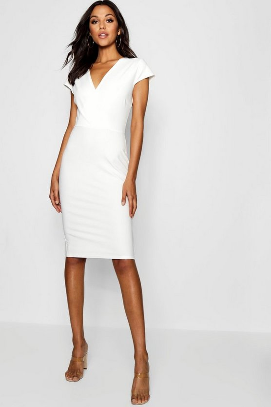 Tall Wrap Front Bodycon Midi Dress