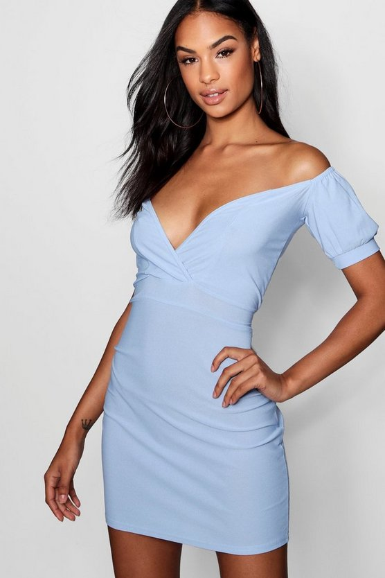 Tall off The Shoulder Belted Mini Dress